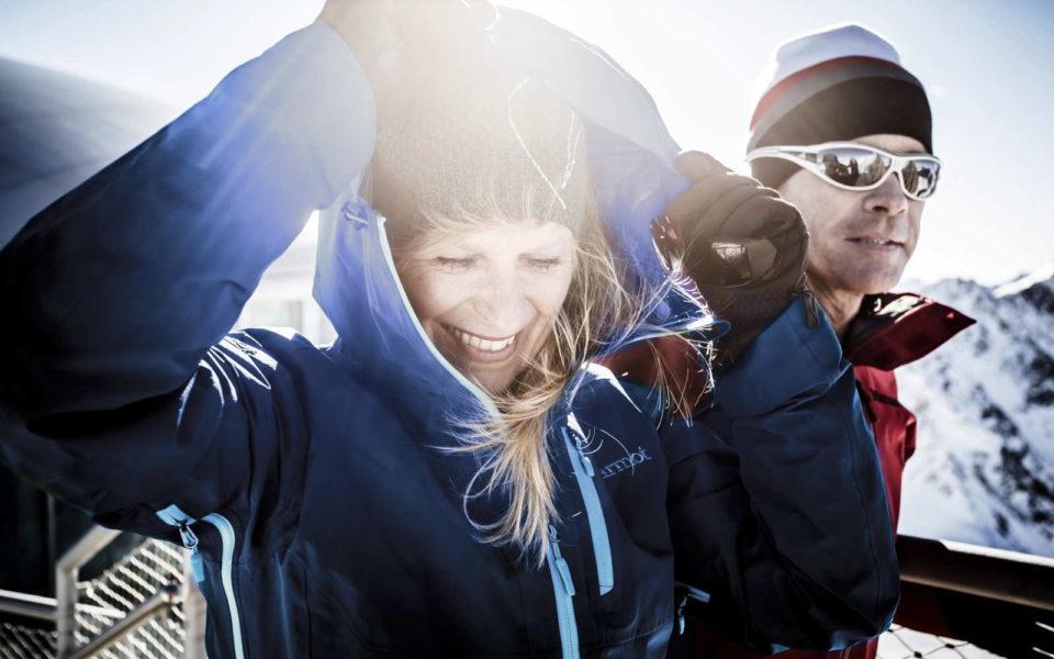 Lachende Menschen Pitztaler Gletscher Ferienwohnung